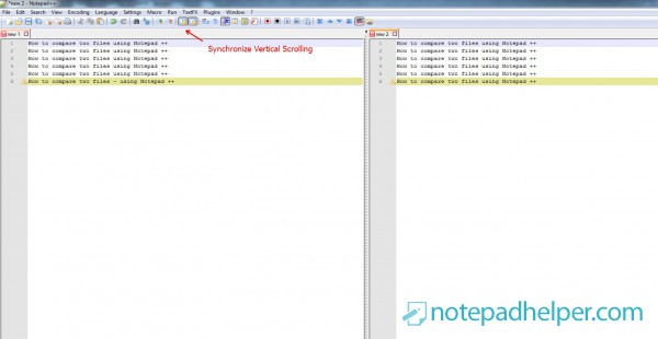 How to compare two files using Notepad ++