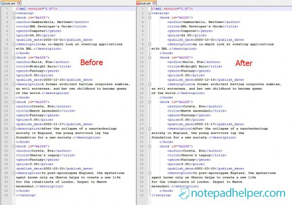 XML Tools plugin for Notepad ++